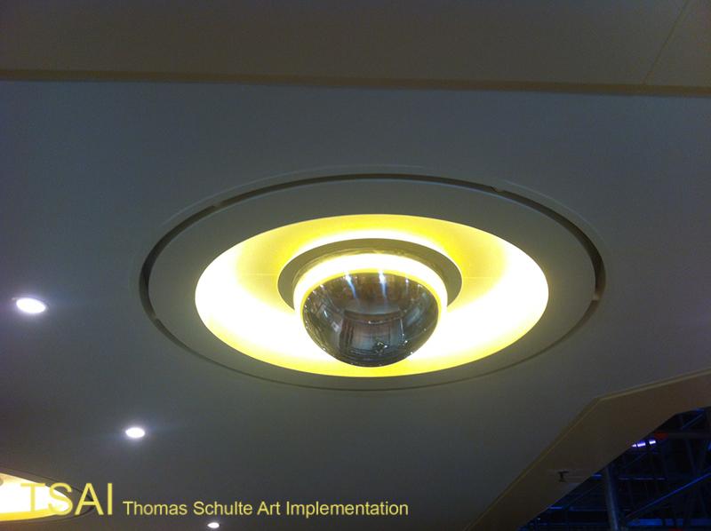 polished hemisphere lamp